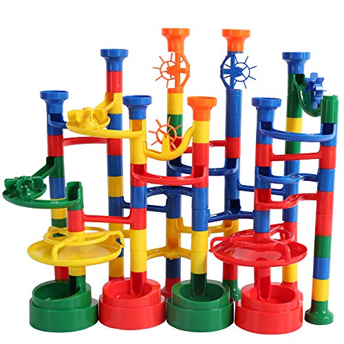 BMAG Marble Run Set for Kids, Marble Race Track , Marble Maze Game Toys, STEM Construction Building Set 112PCS]()
