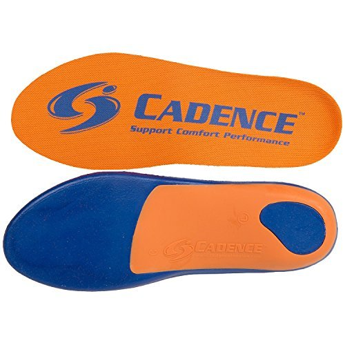 Cadence Insoles Orthotic Shoe Insoles ((F) MEN 9.5-10.5 WOMEN 10.5-11.5, Orange) by Cadence