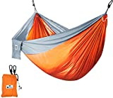 Supreme Nylon Hammock- Supports Up To Two People or 400 LBS - Porch, Backyard, Indoor, Camping - Durable, Ultralight Material for Strength & Comfort with Hanging Straps - Utopia Home