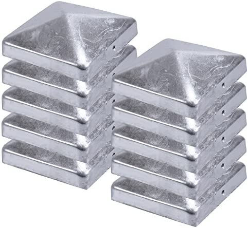 11 X Pfostenkappe verzinkt 10x10 cm Pyramide Abdeckkappe Abdeckung 101x101mm