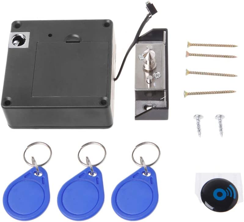 BIlinl Cabinet Unsichtbares elektronisches RFID-Schloss Versteckte Keyless-T/ürschl/össer Sensor Locker