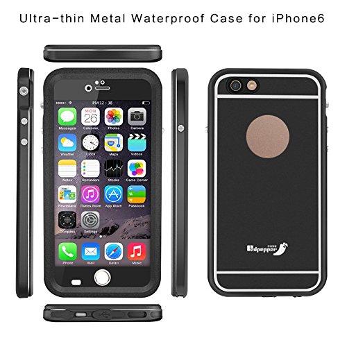 Schutzhülle iPhone 6+/6S + Redpepper Case thin- stoßfest und wasserdicht–schwarz
