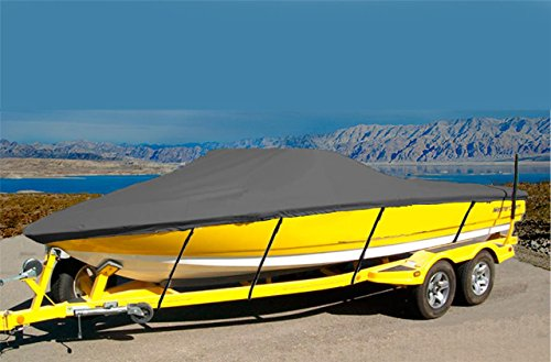 7oz SOLUTION DYED POLYESTER MATERIAL-CUSTOM FIT EXACT FIT BOAT COVER SEA HUNT ESCAPE 207 W/ SKI TOW BAR 2009-2012