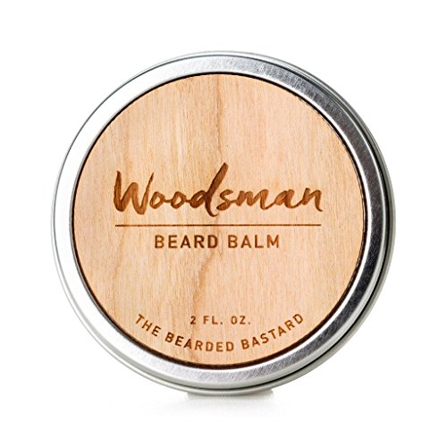 Woodsman Beard Balm by The Bearded Bastard | For A More Attractive & Healthy Beard | Mens Beard Balm, Beard Wax, Beard Care, Beard Grooming Kit, Beard Conditioner, Mens Grooming|Essential oils