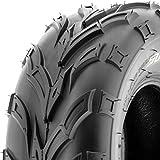 SunF ATV UTV 20x10-10 All Terrain 6 PR Tubeless Quad Trail Tire A004, [Single]
