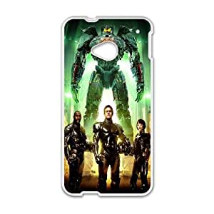 HTC One M7 Cell Phone Case White Pacific Rim Characters JSK671691