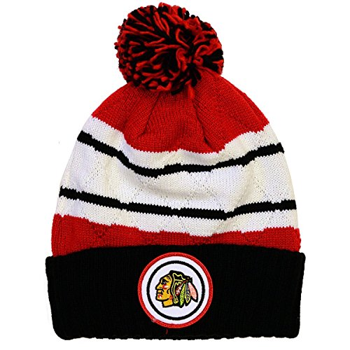 NHL-Mitchell-Ness-Jersey-Stripe-Hi-Five-Knit-Hat-with-Pom