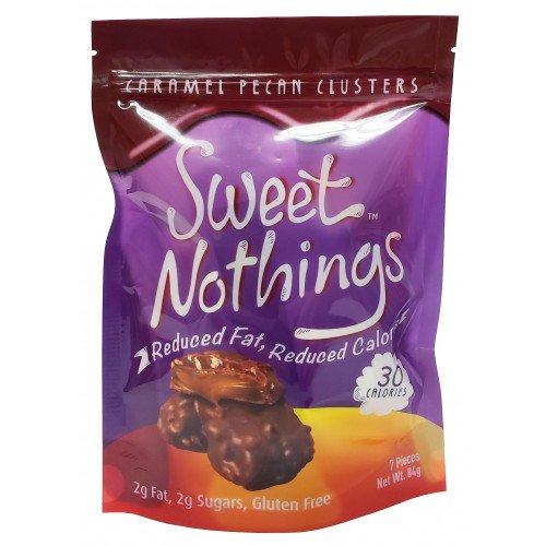 ChocoRite - Sweet Nothings Caramel Pecan Diet Bar Clusters | Low Calorie, reduced fat, gluten free (7 Pieces, (7 Piece Pecan)