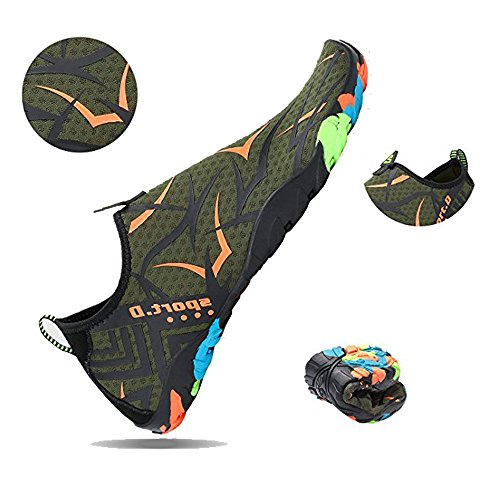 HooyFeel Multifunctional Barefoot on Water and Dry Women green Aqua 688 Slip Quick for new Shoes Beach Men Shoes Water xIIrqzd