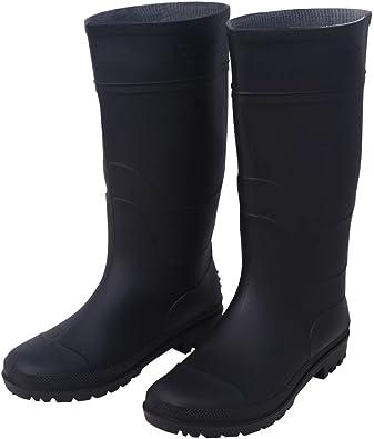 vidaXL Bottes en Caoutchouc Taille 39 Noir Bottes Chaussures