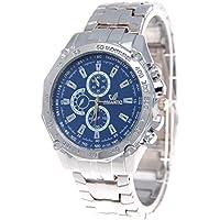 Youcoco Large Dial Casual Watch Wristwatch Analog Quartz Wrist Men's Watch