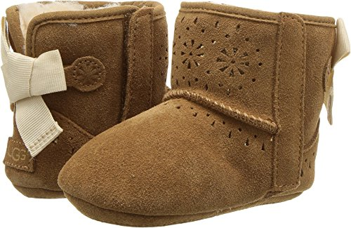 UGG Kids Baby Girl's Jesse Bow II Sunshine Perf (Infant/Toddler) Chestnut Small M