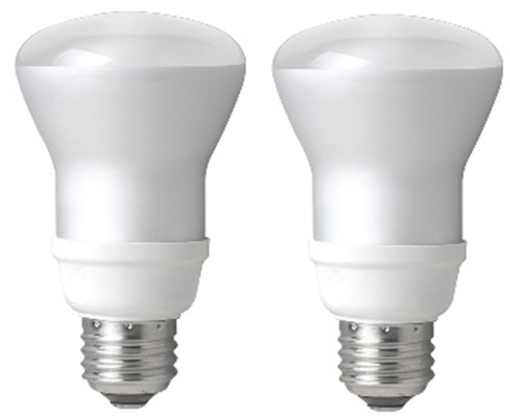 TCP 50W Equivalent, CFL R20 Flood Light Bulbs, Non-dimmable, Soft White (2 Pack)