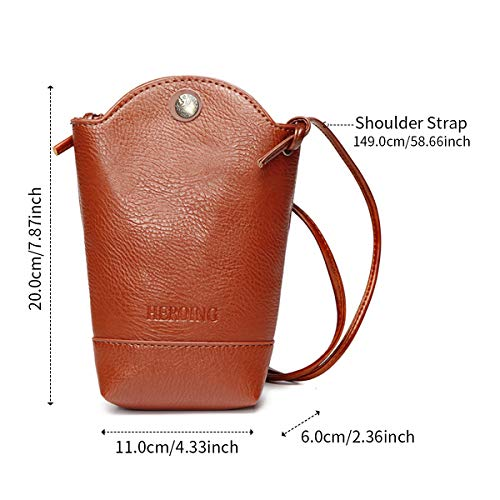 Irregular Coffee Bag JOSEKO Phone Bucket Crossbody Bag PU Casual Bag Woman Little Coffee C77wvx45q