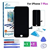 #2: Qi-Eu LCD Display for iPhone 7 PLUS 5.5 inch Touch Screen Digitizer Replacement with 3D Touch Full Assembly - Black, Repair Tools Kit and Instructions are Included