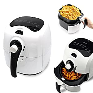 Nattork Air Fryer Hot Air Fryer 3.7 QT Oil-Free 1400 Watts Electric Air Fryer Cookerwith airfryer cookbooks For Fast & Healthier Oil Free Cooking