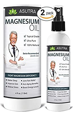 Pure Zechstein Magnesium Oil Spray- Triple Filtered - LESS ITCH & LESS STING / Rapid Transdermal Absorption - Ultra Pure & Potent + FREE Magnesium E-Book