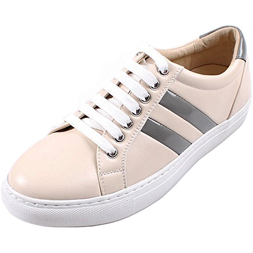 New Polytec Classic Modern Casual Athletic Lace up Men Fashion Sneakers Shoes Ivory O0A2Elk