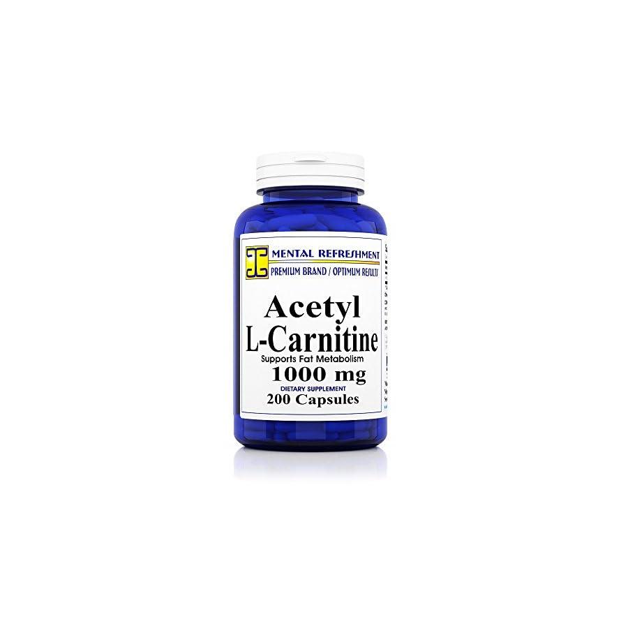 Pure Acetyl L Carnitine: Maximum Strength 1000 mg 200 Capsules