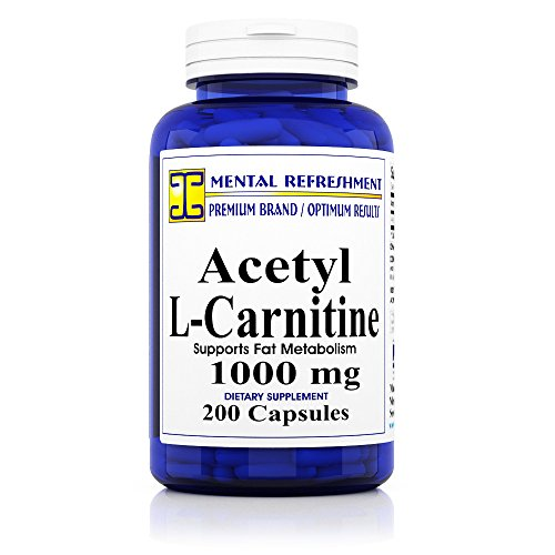 Pure Acetyl L Carnitine: Maximum Strength 1000 mg 200 Capsules