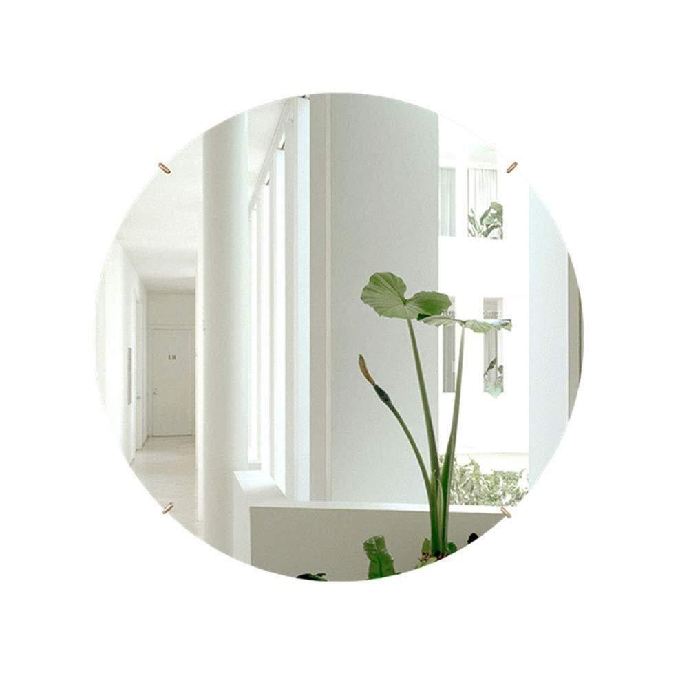 Bathroom Mirror,Round Bathroom Mirror Bathroom Mirror Vanity Mirror Toilet Mirror Wall Mount Mirror (Size : 60cm)