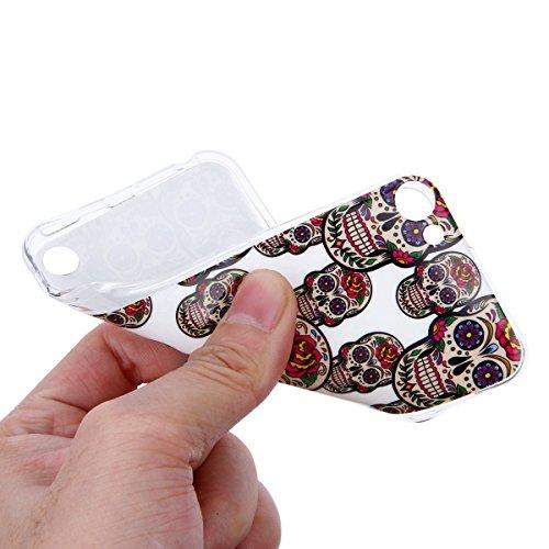 Funda iPod touch 6,SainCat Moda Alta Calidad suave de TPU Silicona Suave Funda Carcasa Parachoques Diseño pintado Patrón para Funda TPU Silicona Flexible Ultra Delgado Ligero Goma Case Cover Caja Suav Pequeña cabeza de diablo