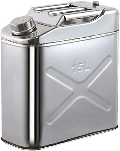 TGT4X4 304 Stainless Steel Jerry Can 8 Gallon Water Can 8Gallon 30 L Portable