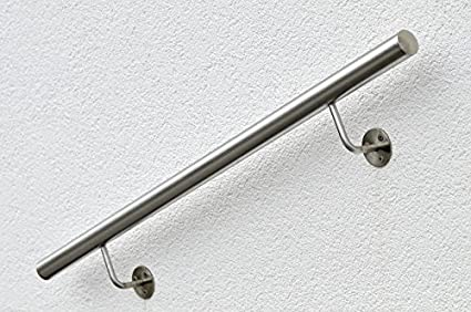 Acero inoxidable Mano unidad L: 1200 mm D: 40 mm, con 2 ...