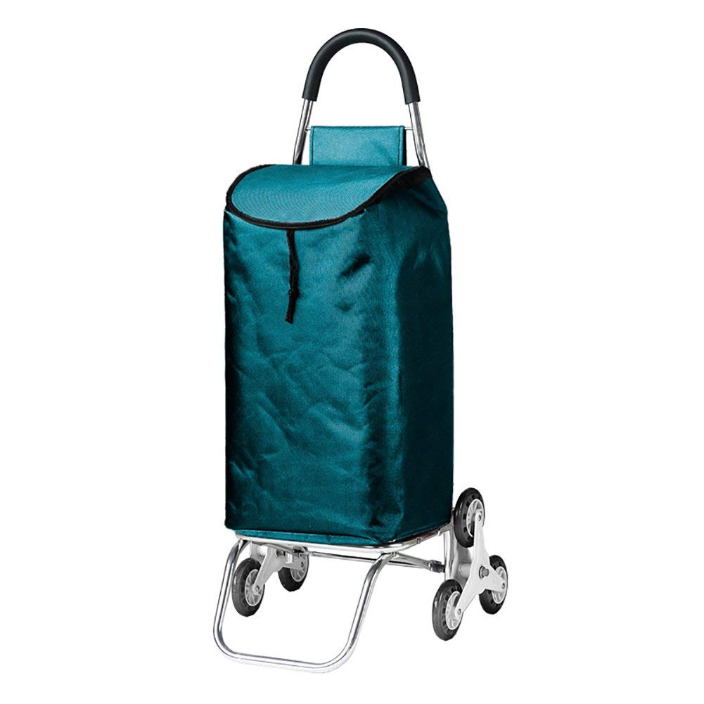 Zehaer Portable Trolley, ZGL Trolley Trolley Aluminum Alloy Climbing Stairs Pull Rod Car Fold Portable Trolley Household Old Man Shopping Small Cart Hand Car (Color : Style-5) (Color : Style-1) by Zehaer (Image #1)