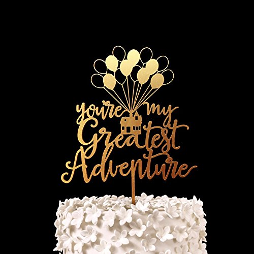 gold-youre-my-greatest-adventure-housecake-topper-wood-rustic-wedding-decor-bridal-shower-engagement