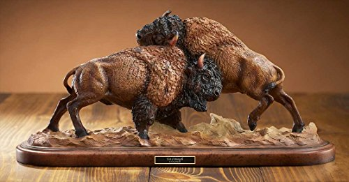 Wild Wings Test of Strength - Bison Sculpture by Greg Peltzer (Bison Sculpture)