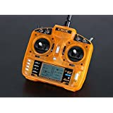 HOBBYMATE OrangeRx T-SIX 2.4GHz DSM2 6CH Programmable Transmitter w/10 Mod Memory - for Rc Helicopter, Rc Airplane, FPV Racing Drone Quadcopter