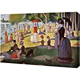 """A Sunday Afternoon on the Island of La Grande Jatte by Georges Seurat - 10"""" x 15"""" Gallery Wrapped Giclee Canvas Art Print - Ready to Hang"""