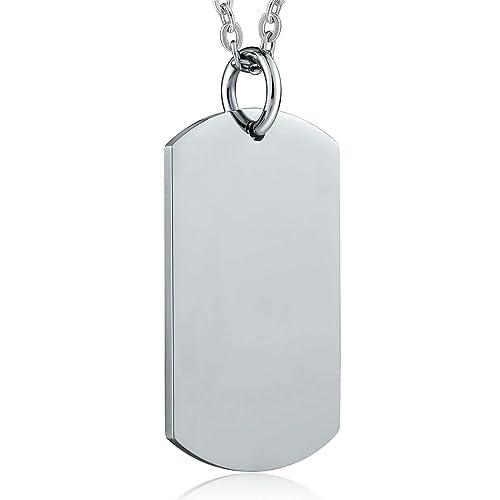Daesar Collar Acero Inoxidable Mujer Placa de Militar ...