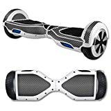 MightySkins Protective Vinyl Skin Decal for Hover Board Self Balancing Scooter mini 2 wheel x1 razor wrap cover sticker Carbon Fiber