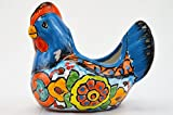Talavera Hen Chicken 5″ Planter Pot Hand Painted Ceramic Garden Decor (Turquoise)