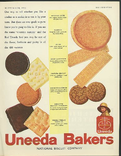 One way to tell is taste Nabisco Uneeda Zu Zu Graham Crackers Oreo + ad 1931