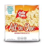 JOLLY TIME All in One Kit for 8 oz. Popcorn Machine | Portion Packet with Kernels, Oil and Salt for Commercial, Movie Theater or Air Popper (Net Wt. 10.5 oz. Each, Pack of 24)
