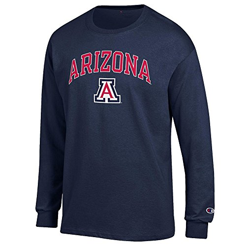Arizona Wildcats T-shirts (Arizona Wildcats Long Sleeve TShirt Varsity Navy - XL)