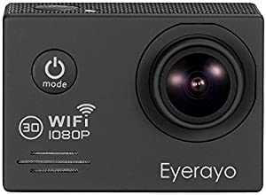 Eyerayo 2.0 Inch WIFI SJ7000 Sports Camera 14MP Full hd 1080P 170 Degree Wide Angle Lens 30m Waterproof Diving Hd Camcorder HDMI Output H.264 Car DVR Recorder Wearable Action Hd Digital Camera(Black)