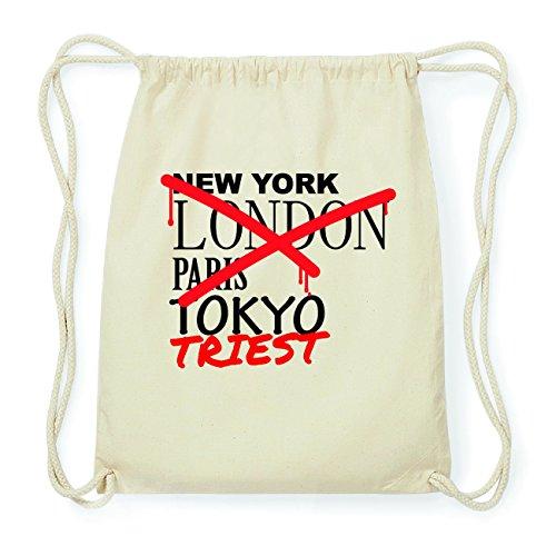 JOllify TRIEST Hipster Turnbeutel Tasche Rucksack aus Baumwolle - Farbe: natur Design: Grafitti