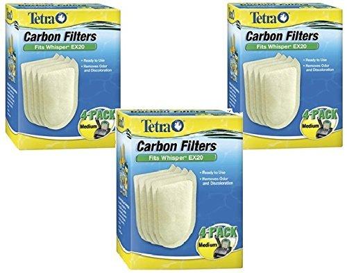 Tetra Whisper EX Carbon Filter Cartridge 4 Piece Medium Box - 3 Pack