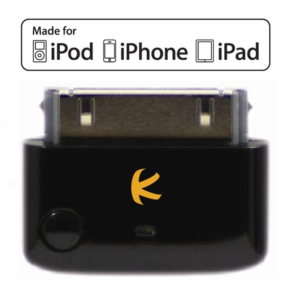 MULTI-STREAM es un min/úsculo transmisor iPod por Bluetooth para iPod multicanal est/éreo iPad o iTouch KOKKIA i10 black Control remoto y control de volumen local para iPod// Negro Lujoso iPhone un solo aparato emisor para dos receptores