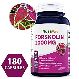 100% Pure Forskolin 2000mg Per Caps 180 Capsules (Non GMO & Gluten Free) Weight Loss Fuel Belly Buster Fat Burner The Stronger The Better 100% Money Back Guarantee Order Risk Free!