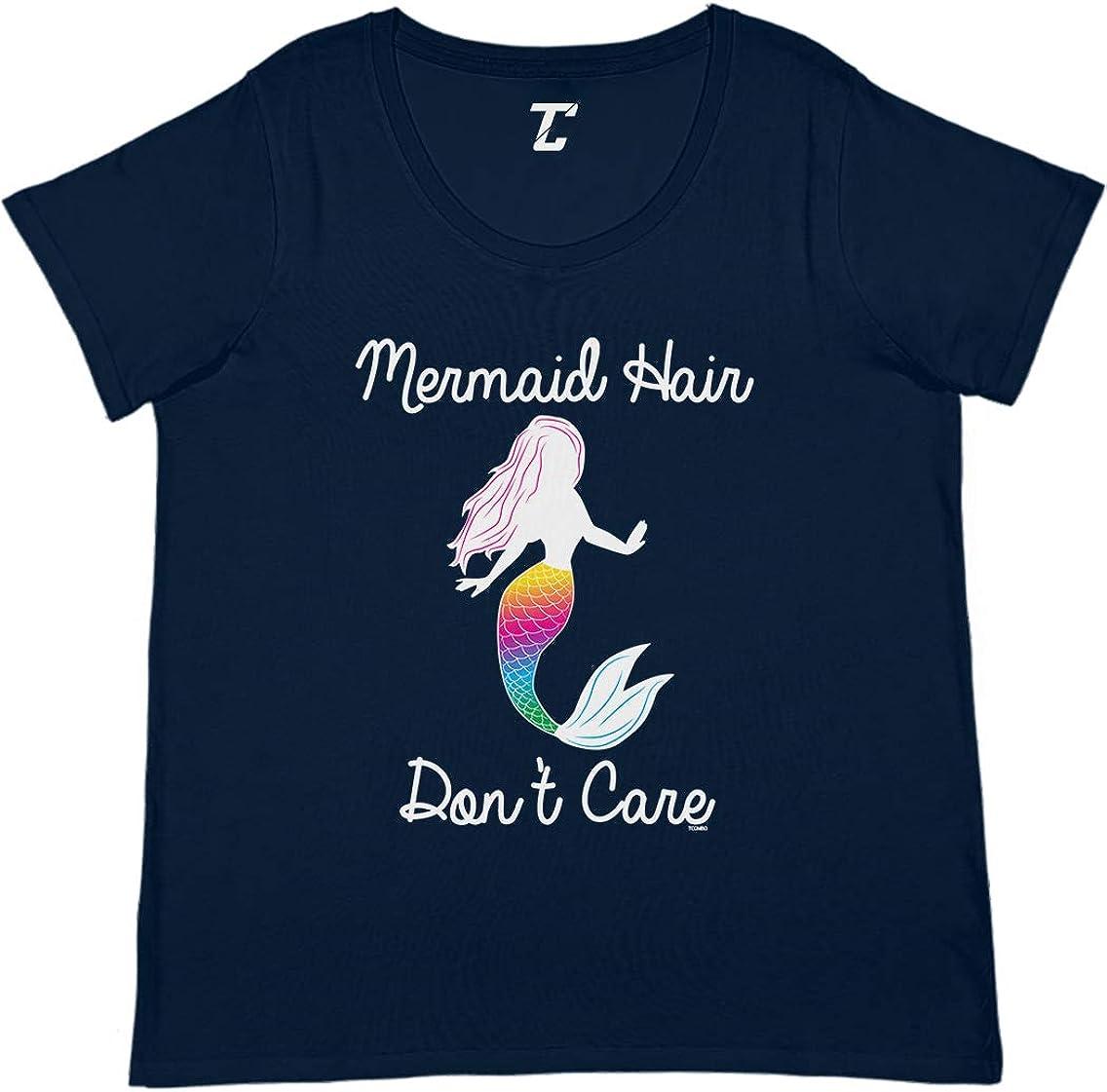 Mermaid Hair Don't Care - Magic Spirit Animal Women's Curvy T-Shirt