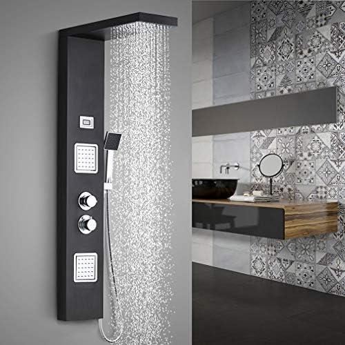 Thermostat Design Duschpaneel Edelstahl Duschset Duscharmatur Duschsäule Schwall
