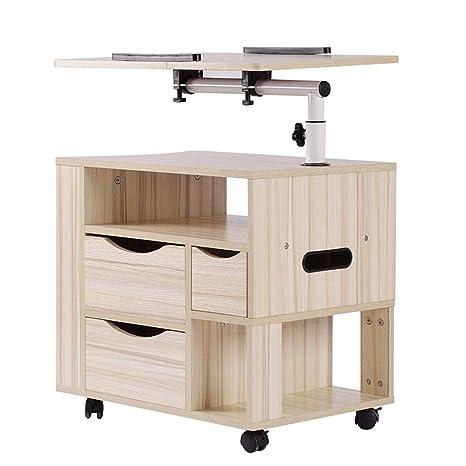 Amazon.com: NITCHA14 - Mesa de noche de madera con ruedas ...