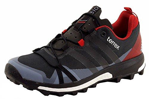 adidas outdoor Men's Terrex Agravic Dark Grey/Black/Power Red Sneaker 8 D (M)