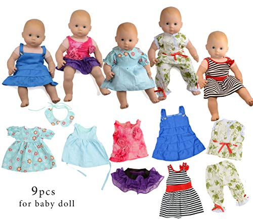 sweet dolly Doll Clothes for 14 15 16 Inch New Born Baby Dol