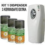KENYASAFE EXTRA 3 botellas de insecticida de 250 ml con dosificador automático.